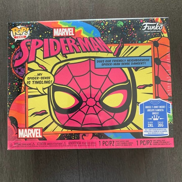 Funko Pop & Tee Spider-Man Blacklight